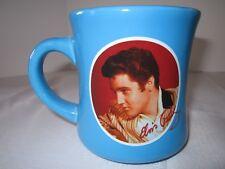 NOS Elvis Presley Mug Summer Blue Sky Color Left Hand & Right Hand Graphic