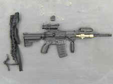 1/6 Scale Toy Mountain Ops Sniper - Black HK416 Assault Rifle w/Attachment Set