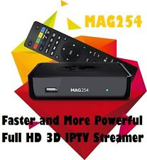 NEW Powerful MAG 254 IPTV Box Media Streamer FULL HD TV 3D Video UPDATED MAG 250