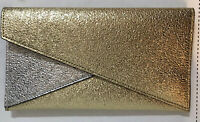 Estee Lauder Makeup Cosmetic Bag or Clutch Faux Leather Gold/Silver 1219M NEW