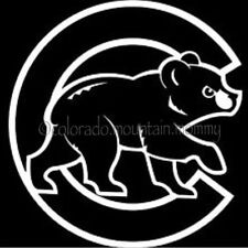Chicago Cubs White Car Decal - FREE SHIPPING