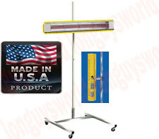 PRO AUTO BODY Infrared Cure Curing Lamp Light with Rolling Base Stand 6' Tall