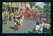 Postcard Disneyland The Disneyland Band Mickey Mouse Leads Main Street Usa. T
