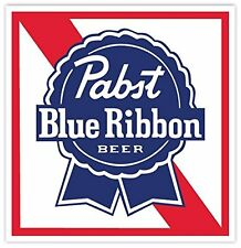 "PABST BLUE RIBBON Beer Vinyl Sticker Decal 9"" Car Bumper Laptop Toolbox"