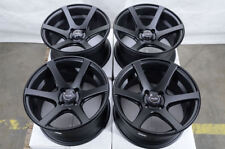 15x8 Wheels Honda Accord Civic Mx-5 Miata Mirage Corolla Matt Black Rim 4x100