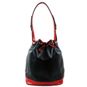 LOUIS VUITTON Noe Epi One Shoulder Bag Bicolor Noir Castilian Red M44017 M44017