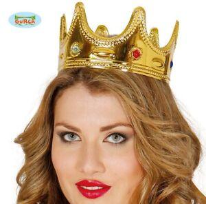 Adult Fancy Dress Queen's Crown Queen King Jewelled Crown New fg