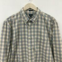 Mens XL J CREW Slim Fit Plaid Shirt -SUPER- 33c