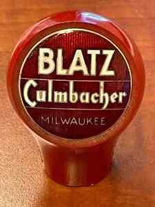 Blatz beer ball knob Milwaukee Wisconsin tap marker handle vintage brewery