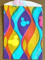 1960s DISNEYLAND GIFT STORE BAG vintage paper sack PSYCHEDELIC DESIGN Disney