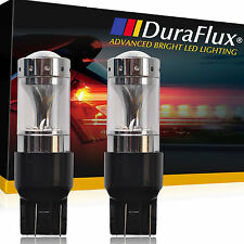 DuraFlux 80W CREE Red 7440 7443 T20 LED Brake Tail Stop Light Bulbs w/ Projector