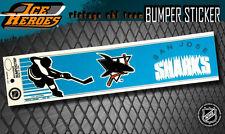 SAN JOSE SHARKS Vintage Bumper Sticker - Unused - NOS - NM