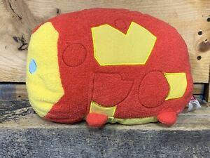 "Disney Store Marvel Iron Man Large Tsum Tsum Plush Stuffed Toy Pillow 10"" Wide"