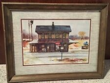 """Ranulph Bye Vintage Watercolor """"Country House"""" Framed Print 19"""" x 25"""""""