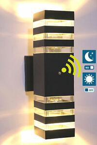 Dusk to Dawn Sensor Outdoor Wall Mount Light Fixture LED Up Down Lamp Bulb Porch