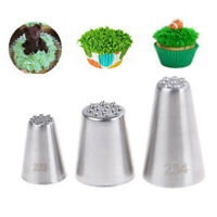 Grass Baking Decorating Cupcake Cake Icing Piping Nozzles Tips Pastry ToolBB