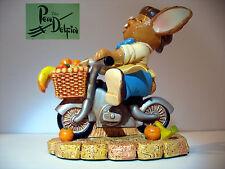 New Pendelfin Granville figurine rabbit Bunny on bicycle bike w/ Box