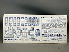 Vintage Advertising Bearing Specialty Co. Ink Blotter Aeronautical Boston
