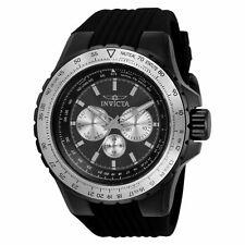 Invicta Men's 50mm Pilot Aviator Compass Voyage Combat SS Silicone Strap Watch