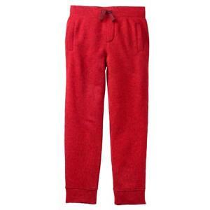 NWT Gymboree Boys Pull on Pants Red Fleece Jogger Alpine Road Many Sizes