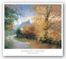 Autumn at Pen-y-Bont-Fawr Jeanette Leuers Art Print 11x14