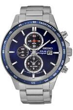 Watch Man Seiko Solar SSC431P1 Steel Stainless Silver