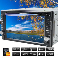 "6.2"" GPS Navigation Double Din Car Stereo DVD Radio Player Bluetooth FM + 8G Map"