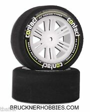 Contact RC 1:10 Foam Touring Car tires (2) Rear 30mm, 40 Shore - nylon rim14004