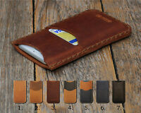 Personalized Samsung Leather Cover Case Credit Card Pocket Engrave Your Name