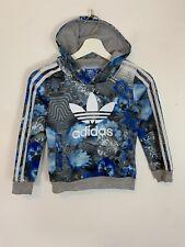 Juventud Junior Adidas Originals Suéter Con Capucha Con Capucha Sudadera Top Uk 7-8 años