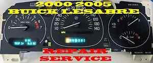 BUICK LESABRE 2000 2001 2002 2003 2004 2005 01 02 03 FULL CLUSTER GAUGES REPAIR