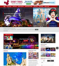 DISNEY WORLD Disneyland Vacation Travel Affiliate website for sale Optional Cart