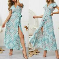 Evening floral sundress maxi summer beach long cocktail Women's dress party boho