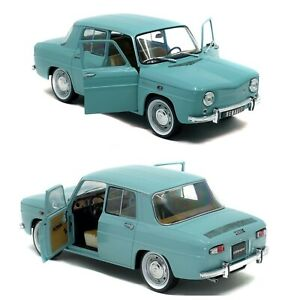 1/18 Solido Renault 8 Major Light Blue 1967 New Box Free Shipping Home