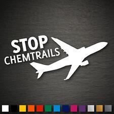 13426 Stop Chemtrails Aufkleber 140x65mm Protest Flugzeug Flieger FUN DUB JDM