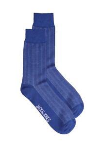 Jack Jones Herren Blau Klassisch Streifen Crew Socken > One Größe Eu 6-11 40-46