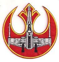 """Star Wars Rebel Alliance Die-Cut Logo w X-Wing 4"""" Uniform Patch (SWPA-FC-19)"""