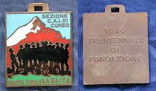 MEDAGLIA SMALTI COLORI C.A.I. CUNEO CLUB ALPINO ITALIANO GRUPPO CORALE LA BAITA