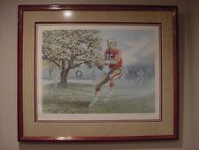 GORGEOUS Joe Montana James Lumbers Framed Autographed Print, The Dream Begins!!