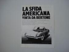 advertising Pubblicità 1970 FIAT 850 SPORT SPIDER BERTONE