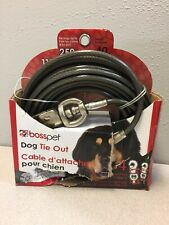 Boss Pet Q684000099 PDQ Silver Tie-Out Vinyl Coated Cable Dog Tie Out X-Large