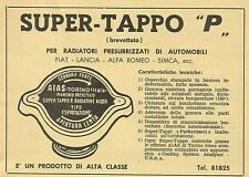 W6037 Super TAPPO P per radiatori automobili - Pubblicità 1959 - Advertising