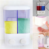 Wall Mount Chrome Shower Bath Liquid Soap Dispenser Bathroom Shampoo Dispenser