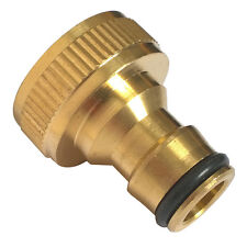"""3/4"""" Garden Brass Threaded Hose Tap Adaptor Water Pipe Connector Tube-Fitting"""