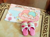 Cute Little Twin Stars Bedroom Doormat Floor Mat Rug Carpet Home Room Kids Gift