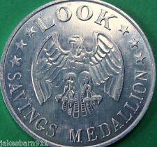 Look Magazine Savings Medallion Token - Aluminum
