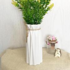 Origami Plastic Vase White Imitation Ceramic Flowerpot Flower Basket Home Decor