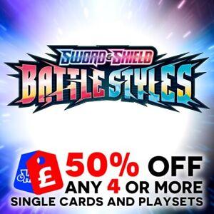 POKEMON SWORD & SHIELD BATTLE STYLES SINGLE + TRAINER CARDS + PLAYSETS - SWSH5