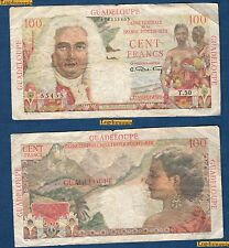 Guadeloupe 100 Francs 1947-1949 Caisse France D'Outre MerT.50 55455 TB / TTB