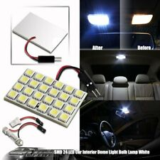 1x Universal Bright White SMD 24 LED Dome/Map Light with T10 and Festoon Adapter
